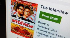 The Interview was released in the US online as well as in cinemas (AP)