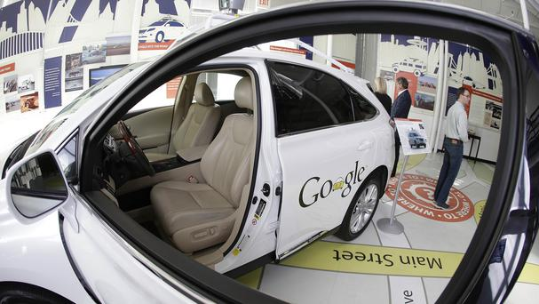 A Google self-driving car on display at the Computer History Museum in Mountain View, California (AP)