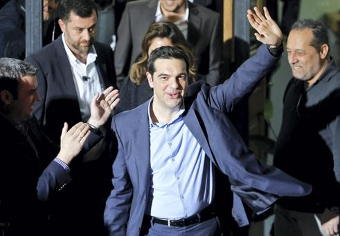 "As Greece, led by new prime minister Alexis Tsipras talks with the troika, analysts describe the two as an ""unstoppable force meeting an immovable object"""
