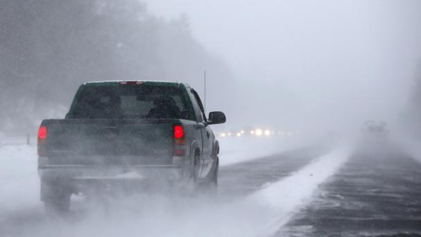 Heavy snow is hitting large areas of the United States. (AP)
