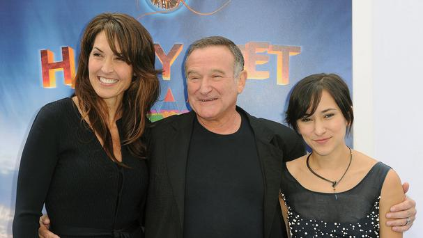 Robin Williams with his wife Susan and daughter Zelda, pictured in November 2013 (AP)