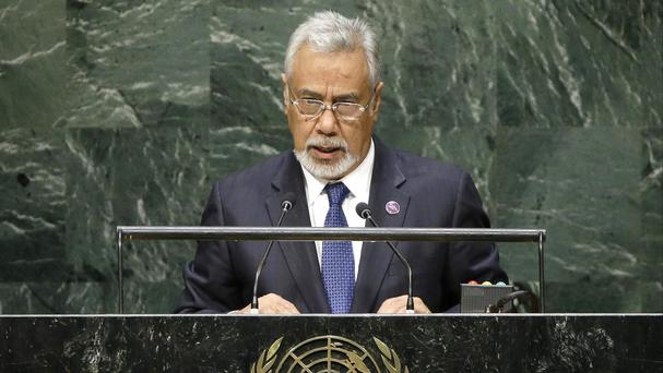 Xanana Gusmao is stepping down as East Timor prime minister ahead of an expected restructuring of the government next week (AP)