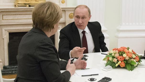 Russian President Vladimir Putin insisted he did not want to go to