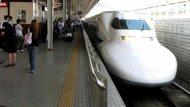 Bullet trains are used across Japan