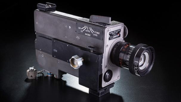 The camera found among souvenirs brought back by astronaut Neil Armstrong more than 40 years after the Apollo 11 moon landing (National Air and Space Museum, Smithsonian Institution/AP)
