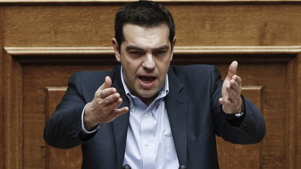 Greek prime minister Alexis Tsipras in defiant mood over his government's intended bail-out rewrite (AP)