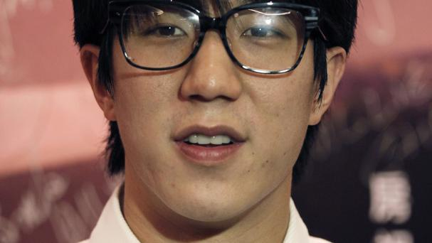 Jaycee Chan has been released from a jail in Beijing after completing a six-month sentence for allowing people to use marijuana in his apartment (AP Photo/Vincent Yu, File)