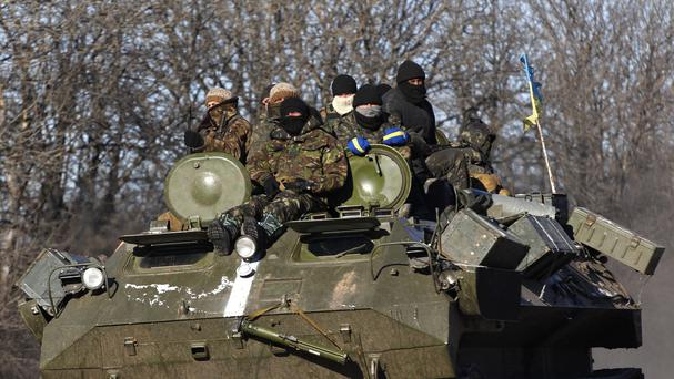Most Ukrainian government soldiers have withdrawn from Debaltseve. (AP)