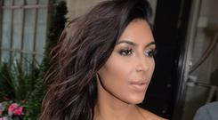 Kim Kardashian was unscathed after a car she was travelling in ended up in a ditch