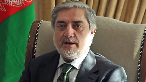 Afghanistan's chief executive Abdullah Abdullah said that his government will begin peace talks with the Taliban insurgents in the 'near future' (AP)