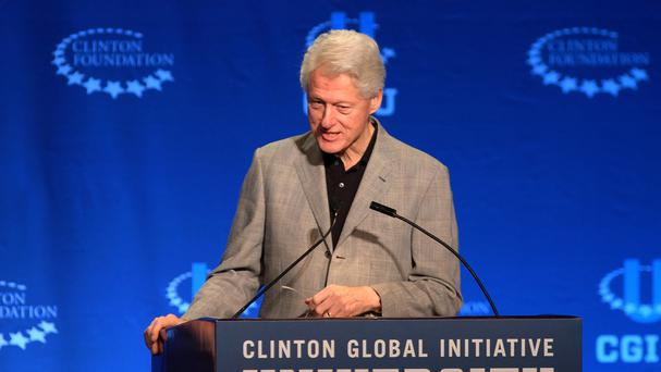 Former president Bill Clinton backed the donations to his foundation (AP)