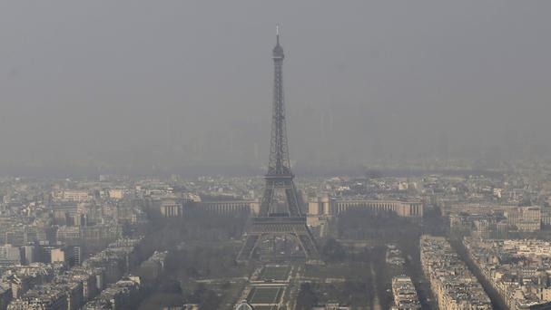 Outdoor air pollution includes ozone, a toxic form of oxygen, and tiny sooty particles that lodge in the lungs. (AP)