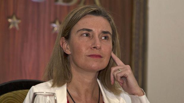 EU foreign policy chief Federica Mogherini is working to restore ties with Cuba (AP)