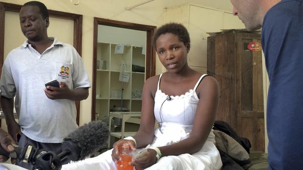 Survivor Cynthia Cheroitich, 19, was found on Saturday two days after the attack (AP)