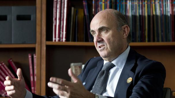 Luis de Guindos said he hopes there will be progress in the negotiations, but warned that time was running out (AP)