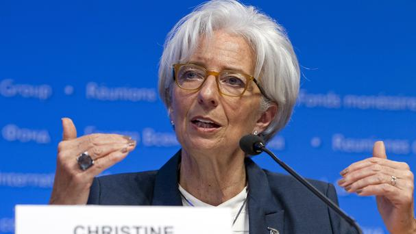 Christine Lagarde has rejected suggestions that the IMF might postpone repayment deadlines for Greece (AP)