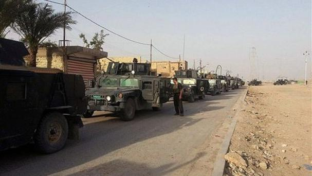 Iraqi anti-terrorism forces enter Ramadi from the eastern side. (AP)