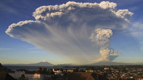 The Calbuco volcano erupts near Puerto Varas, Chile (AP)