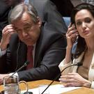 Angelina Jolie briefs the UN Security Council on Syria's refugee crisis. (AP)