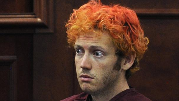 James Holmes during a pre-trial hearing (The Denver Post/AP)