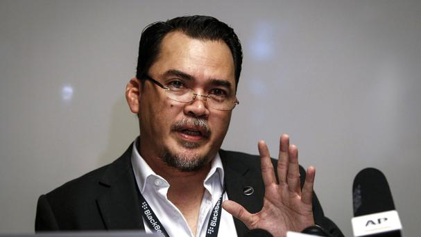 National Union of Flight Attendants Malaysia's president Ismail Nasaruddin speaks at a press conference. (AP)