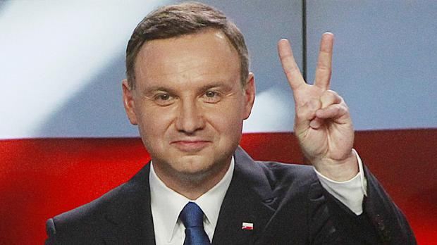 Polls show Andrzej Duda won the first round of Poland's presidential election (AP)