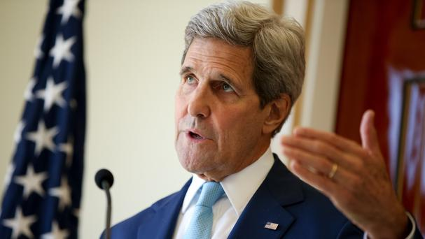 US Secretary of State John Kerry is in Russia for talks with President Vladimir Putin (AP Photo/Andrew Harnik)