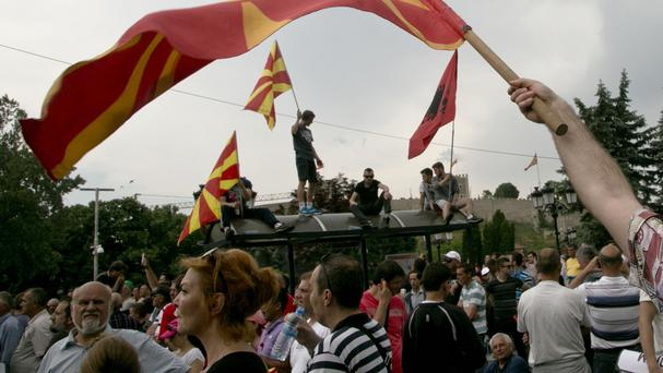 Protester called for Nikola Gruevski to step down