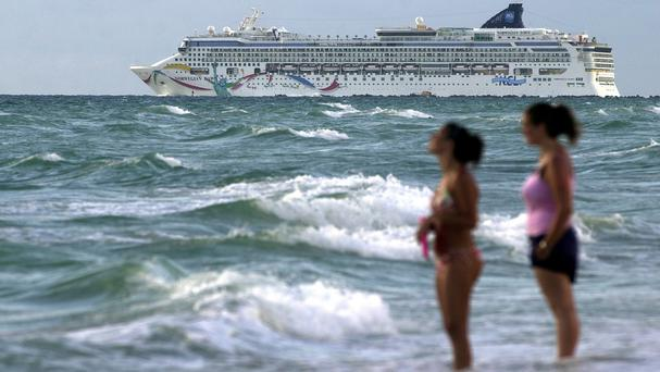 The Norwegian Dawn hit a reef near Bermuda's North Channel (AP)