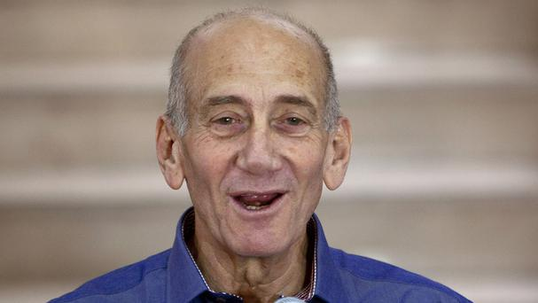 Ex Israeli PM Ehud Olmert has been jailed for eight months (AP)
