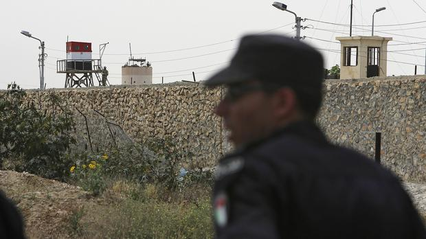 Hamas security officers at the border crossing in Rafah in the southern Gaza Strip. (AP)