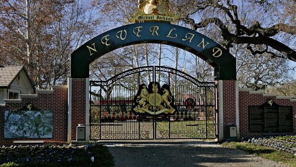 The entrance to pop star Michael Jackson's Neverland Ranch pictured in 2004 (AP)