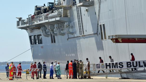 The Irish Navy ship the LE Eithne has also been rescuing endangered migrants in the Mediterranean