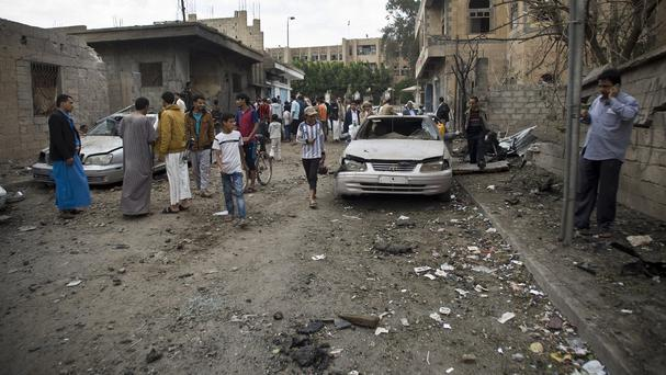 The Americans are believed to be in the Yemen capital Sanaa, which has been repeatedly bombed by Saudi Arabia (AP)