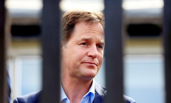 Britain's former deputy prime minister Nick Clegg is on list