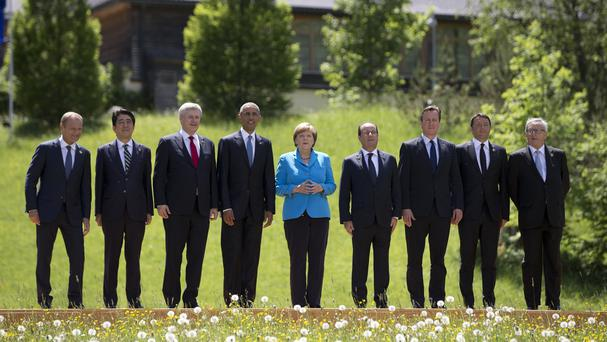 Angela Merkel has said she expects the G& leaders to be united on sanctions on Russia. (AP)