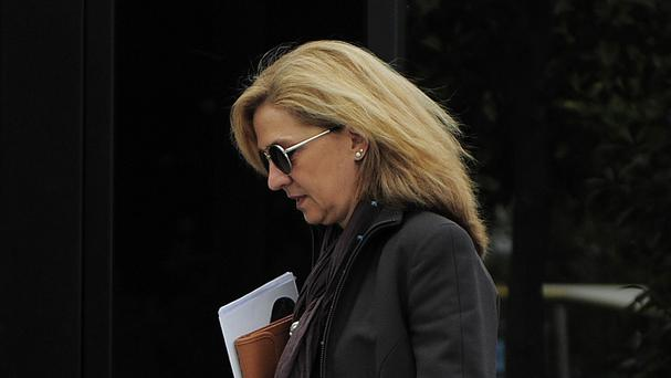 Spain's Princess Cristina has had her title removed from her (AP)