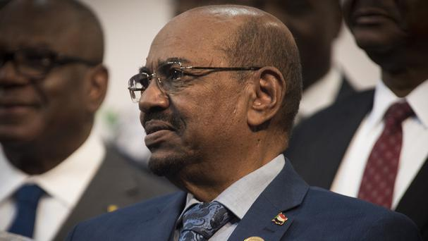 Omar al-Bashir during a photo op at the African Union summit in Johannesburg (AP)