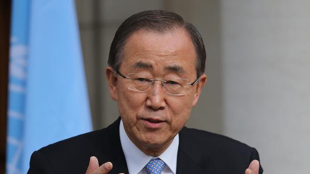 Ban Ki-moon will receive a report on the conflict in Syria
