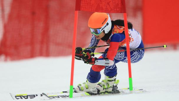 Violinist Vanessa-Mae, skiing under the name Vanessa Vanakorn, represented Thailand in the Ladies' Giant Slalom at the Sochi Winter Olympics