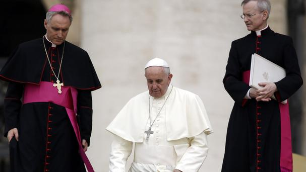 The pope urged Christians to unite in the face of persecution (AP)