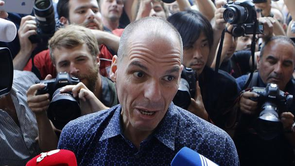 Outgoing Greek finance minister Yanis Varoufakis has resigned. (AP)