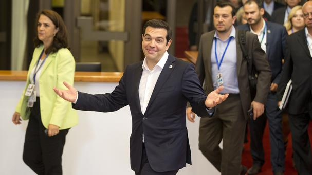 Greek prime minister Alexis Tsipras has addressed the European Parliament (AP)