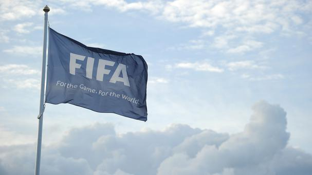 The FIFA Flag flies high over St. George's Park