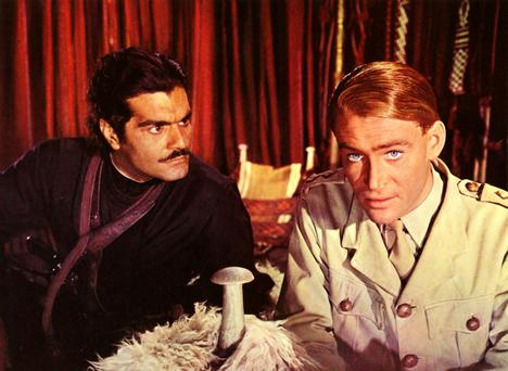 Omar Sharif and Peter O'Toole in Lawrence of Arabia in 1962.