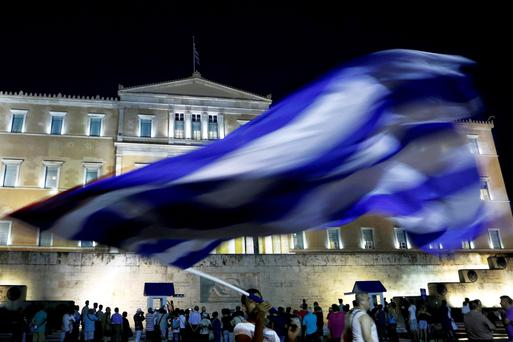 The prospect of Greece crashing out of the eurozone rose significantly last night after major differences emerged between finance ministers during crisis talks in Brussels