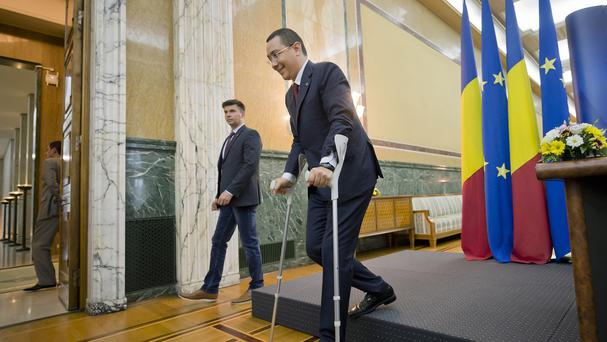 Romanian Prime Minister Victor Ponta has been charged with corruption. (AP)