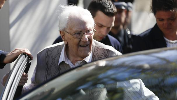 Former SS guard Oskar Groening was convicted of 300,000 counts of accessory to murder (AP)