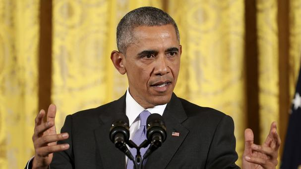 Barack Obama said there is no mechanism set up to remove Bill Cosby's Presidential Medal of Freedom. (AP)