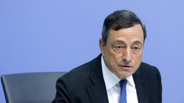 President of European Central Bank Mario Draghi speaks during a news conference following the meeting of the Governing Council. (AP)